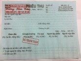 Phiếu thu tiền bằng lái xe máy