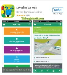Ứng dụng thi bằng lái xe máy A1 trên điện thoại